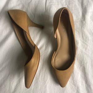 Kelly&Katie Pointed Toe Taupe Heels 💫